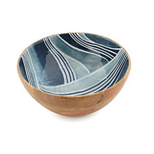 Thirstystone Wood & Enamel Salad Bowl