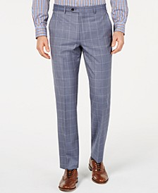 Men's UltraFlex Classic-Fit Windowpane Pants