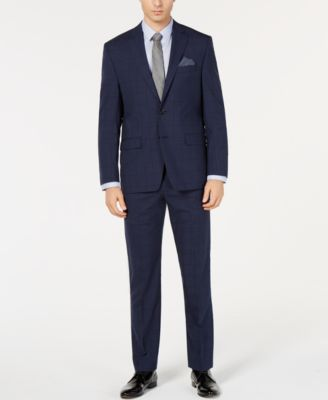 Men's UltraFlex Classic-Fit Windowpane Pants