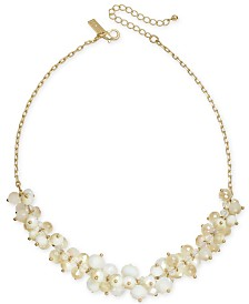 "I.N.C. Gold-Tone Bead Cluster Statement Necklace, 20"" + 3"" extender, Created for Macy's"