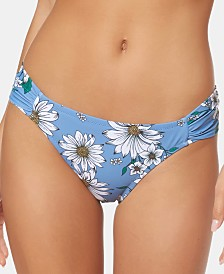 Jessica Simpson Side-Shirred Hipster Bikini Bottoms