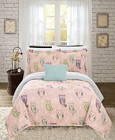 Chic Home Owl Farm 4-Pc. Quilt Sets