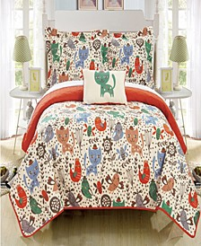 Trixie 4 Piece Full Quilt Set
