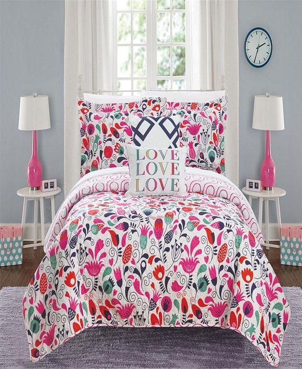 Chic Home Meritt 5 Piece Full Quilt Set