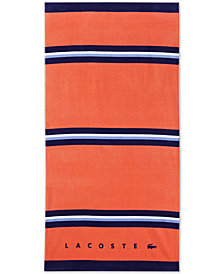 "Lacoste Kaaloa Cotton 36"" x 72"" Beach Towel"