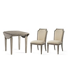 Talulah Dining 3-Pc. Set (Table & 2 Upholstered Back Side Chairs)