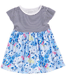 First Impressions Baby Girls Striped Floral-Print Tunic, Created for Macy's