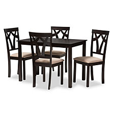 Sylvia 5 Piece Dining Set, Quick Ship