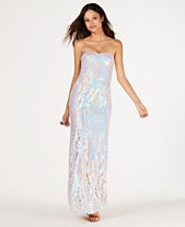 510731046bb6d Say Yes to the Prom Juniors' Iridescent Sequin Mermaid Gown, Created for  Macy's