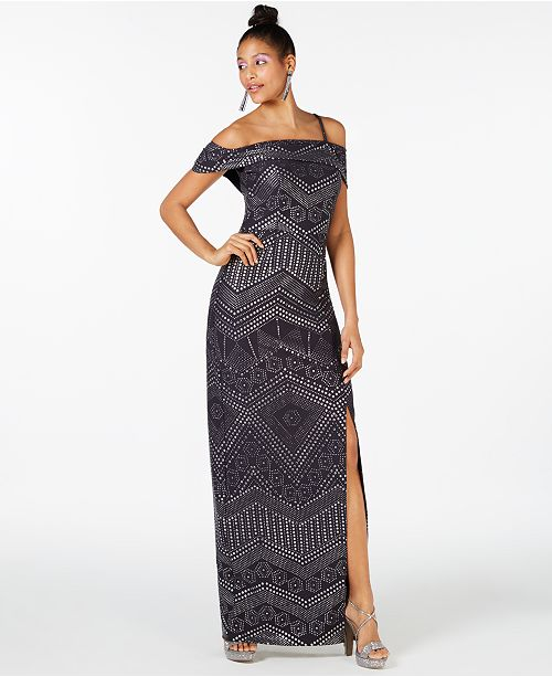 f8dc1cba Laundry by Shelli Segal Cold-Shoulder Studded Gown & Reviews ...