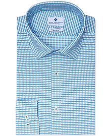 Ryan Seacrest Distinction™ Men's Ultimate Active Slim-Fit Performance Stretch Non-Iron Check Dress Shirt, Created for Macy's