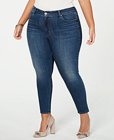 Jessica Simpson Juniors' Curvy Plus Size Skinny Ankle Jeans
