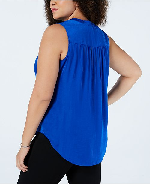 ae0a160927db9d Plus Size V-Neck Sleeveless Blouse. Be the first to Write a Review.  69.00.  main image ...