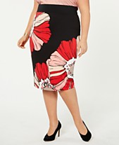 1e1ff5a9b3d Alfani Plus Size Printed Pencil Skirt