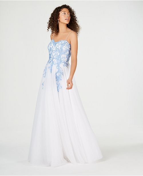 679a911bc9 ... Created for Macy s  Say Yes to the Prom Juniors  Rhinestone-Appliqu eacute   Ballgown