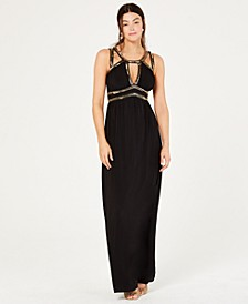 Halter-Neck Beaded Gown, Created for Macy's