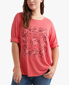 Lucky Brand Cotton Plus Size Graphic Top