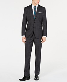Men's Slim-Fit Plaid Performance Suit