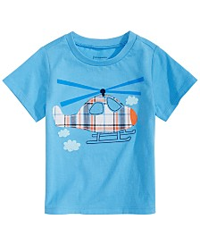 First Impressions Baby Boys Helicopter-Print T-Shirt, Created for Macy's
