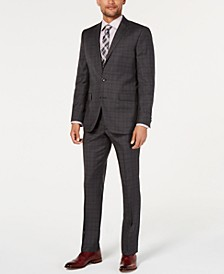 Men's Slim-Fit Plaid & Windowpane Performance Suit