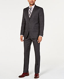 Kenneth Cole New York Men's Slim-Fit Plaid & Windowpane Performance Suit