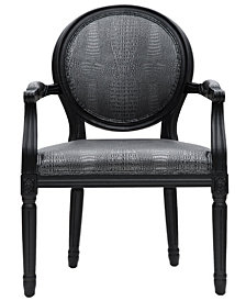 Philip Grey Croc Arm Chair