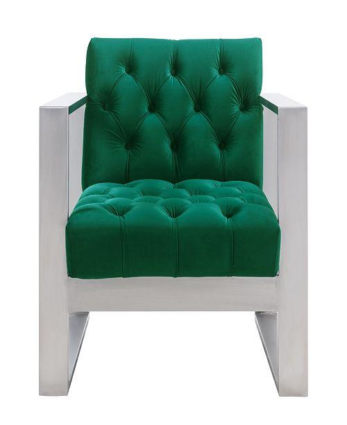 TOV Furniture Oliver Green Velvet Chair