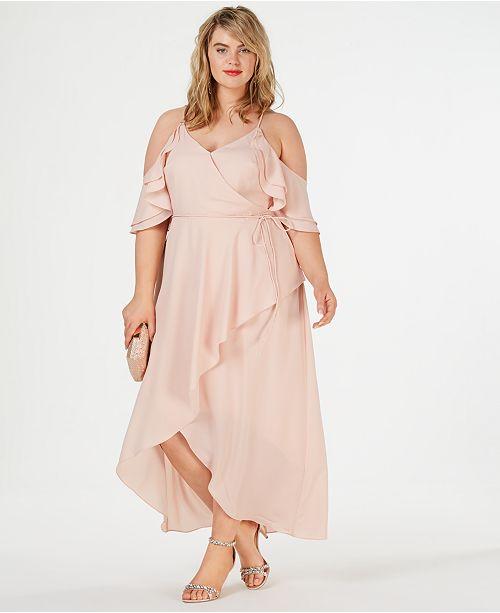 City Chic Trendy Plus Size Cold-Shoulder Maxi Dress ...