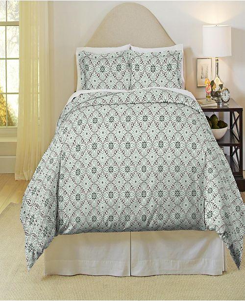 Pointehaven Ankara Print Heavy Weight Cotton Flannel Duvet Set Twin Twin XL