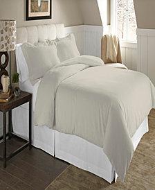 Pointehaven Luxury Size Cotton Flannel Duvet Set
