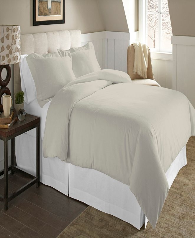 Pointehaven Luxury Size Cotton Flannel Duvet Set