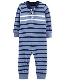 Carter's Baby Boys Striped Coverall