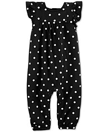 Carter's Baby Girls Dot-Print Cotton Coverall