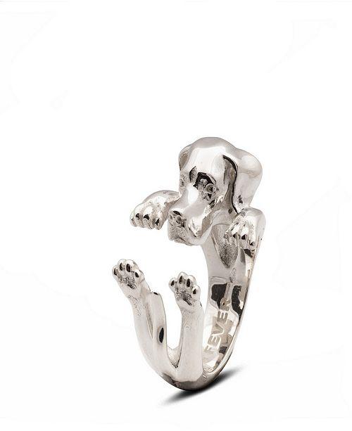 Dog Fever Pointer Hug Ring in Sterling Silver