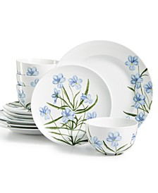CLOSEOUT! Floral 12-Pc. Dinnerware Set, Service for 4, Created for Macy's