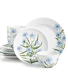 Martha Stewart Collection Floral 12-Pc. Dinnerware Set, Service for 4, Created for Macy's