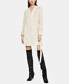 BCBGMAXAZRIA Velvet Tunic Wrap Dress