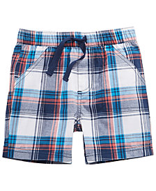 First Impressions Baby Boys Boxy Plaid Cotton Shorts, Created for Macy's