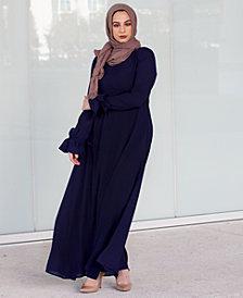 Verona Collection Elisa Ruffle-Sleeve Maxi Dress
