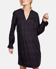 Maternity Plaid Shift Dress