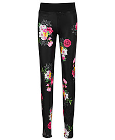 GUESS Big Girls Floral-Print Active Leggings