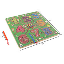 Wooden Number Maze-Colorful Zoo Animal Toy By Hey Play