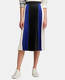 DKNY Colorblock Pleated Skirt, Created for Macy's