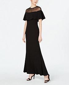 Calvin Klein Illusion-Yoke Popover Gown