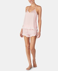 Betsey Johnson Ruffled Printed Cami & Shorts Pajama Set