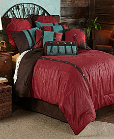Cheyenne Comforter Set, Super Queen Red