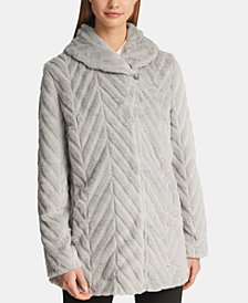 DKNY Faux-Fur Shawl-Collar Jacket, Created for Macy's