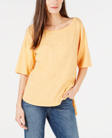 Eileen Fisher Organic Cotton High-Low Top, Created for Macy's