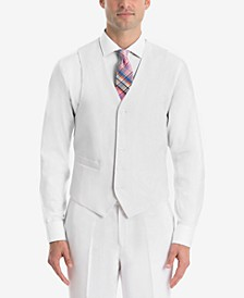 Men's UltraFlex Classic-Fit White Linen Vest