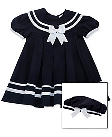 Rare Editions Baby Girls 2-Pc. Sailor Dress & Hat Set